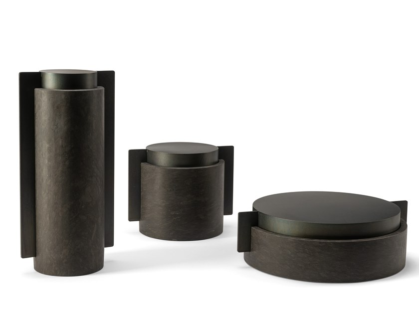Metal and stone storage box MECCANISMI by Visionnaire