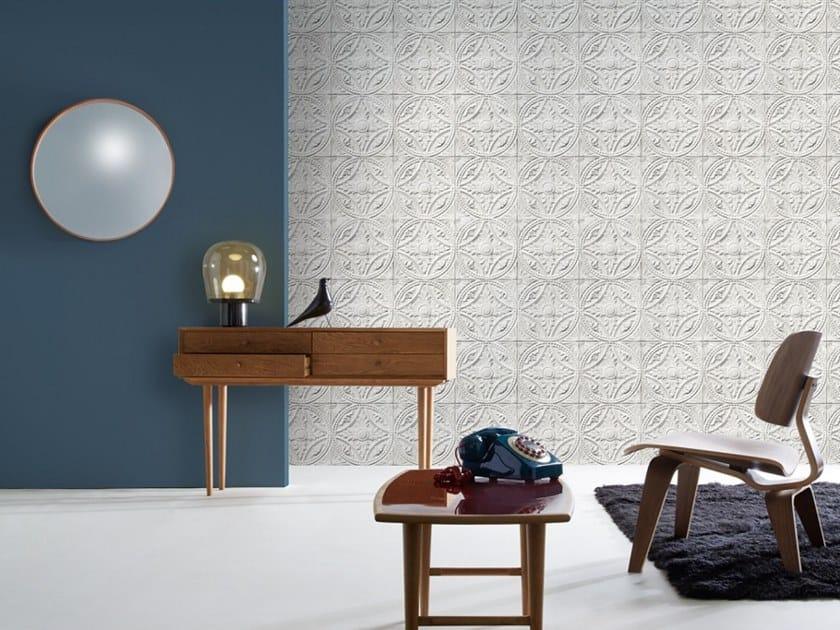 Wallpaper MEDALLION TIN TILES by Koziel