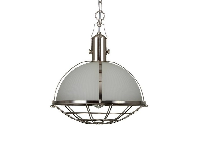 Direct light handmade pendant lamp MEDDLE INDUSTRIAL PENDANT SATIN SILVER by Mullan Lighting