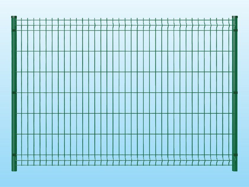 Modular electrically welded mesh Fence MEDIUM GREEN by Ferro Bulloni