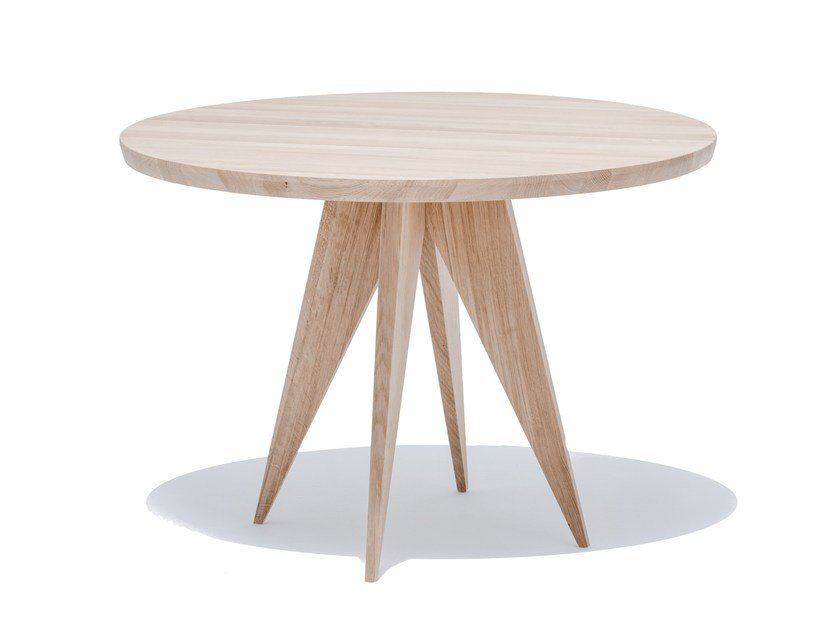 Round English oak dining table MEDUSA by ST FURNITURE