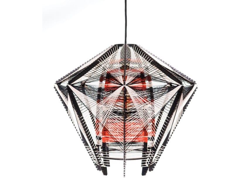 Handmade cotton pendant lamp MEDUSA by Thea Kuta