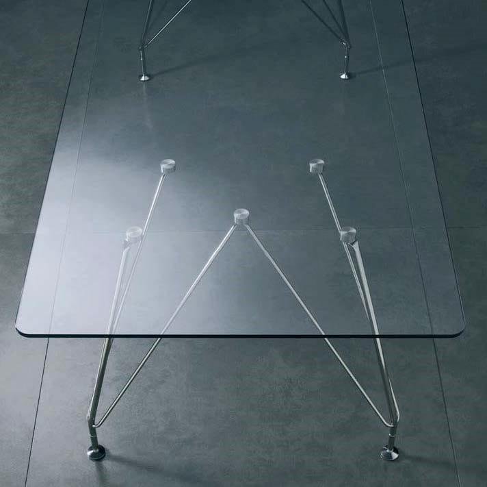 MEETING Tavolo da riunione - Particolare piano in cristallo