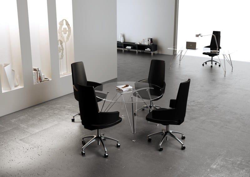 MEETING   Tavolo da riunione MEETING Tavolo da riunione - Tavolo piede in cristallo temperato