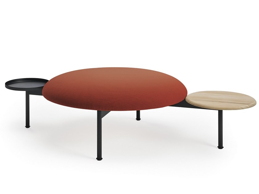 Round fabric pouf MEETING POINT by Sancal