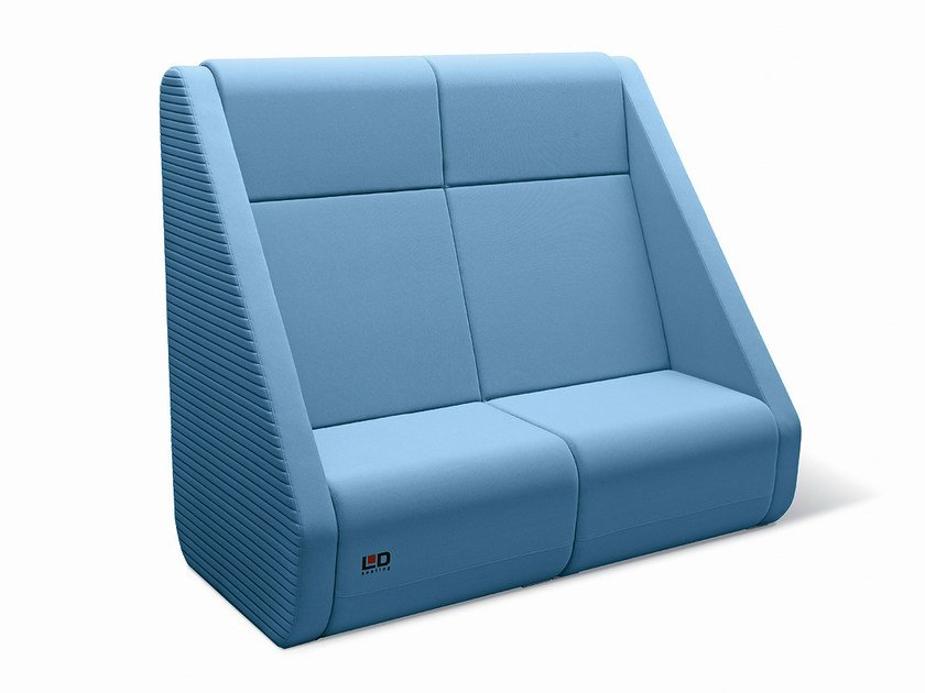 2 seater high-back sofa MEETING PORT KM2/BR-02 by LD Seating