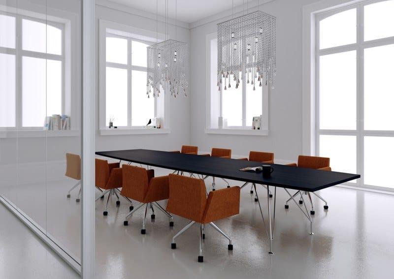 MEETING | Tavolo da riunione rettangolare MEETING Tavolo da riunioni - Tavolo riunione rettangolare piano in legno