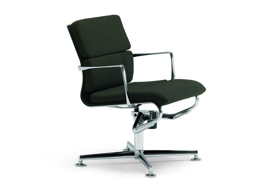 Height-adjustable swivel task chair with armrests MEETINGFRAME LOUNGE 52 SOFT - 469 by Alias