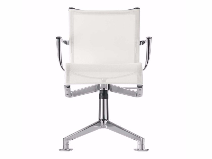 Swivel office chair with armrests MEETINGFRAME+ TILT - 447 by Alias
