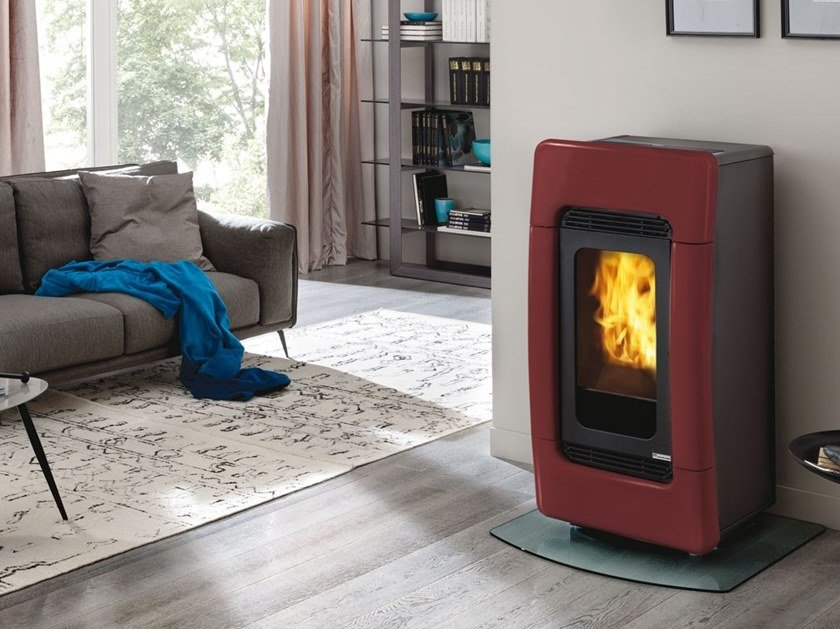 Pellet ceramic Heating stove MEG by EDILKAMIN