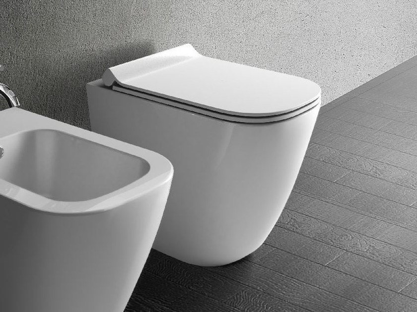 Ceramic rimless toilet MEG11 by GALASSIA