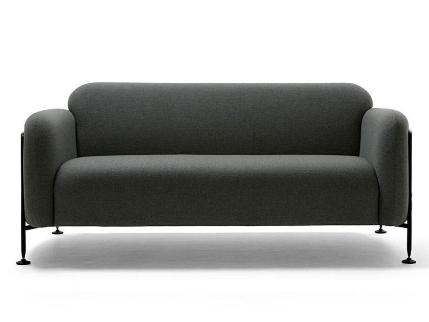 Upholstered sofa with steel tube side panels MEGA | 2 seater sofa by Massproductions