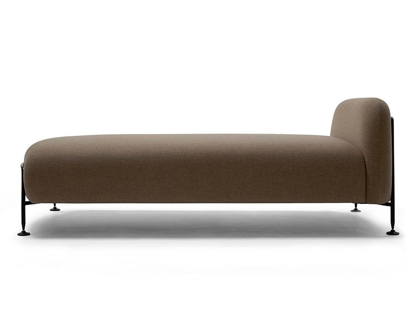 Upholstered daybed with steel tube side panels MEGA | Day bed by Massproductions