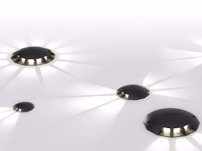 LED walkover light aluminium steplight MEGARA by Artemide