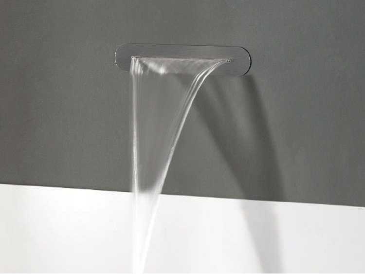 Wall-mounted stainless steel waterfall spout MEGARA by tender rain