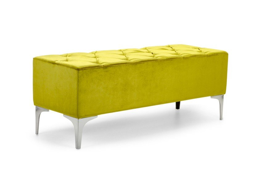 Tufted upholstered fabric bench MEGH | Tufted bench by Domingo Salotti