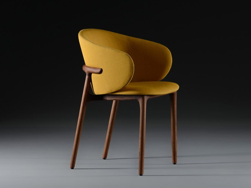 Upholstered fabric chair MELA by Artisan
