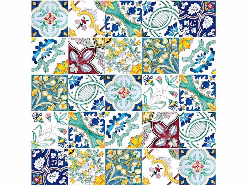 Pavimento rivestimento in ceramica melange 900 by francesco de maio - Ceramiche di vietri piastrelle ...