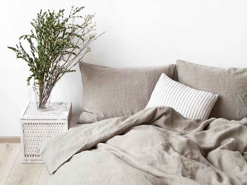 Washed linen Bed Set MELANGE | Bedding set by Linen Tales