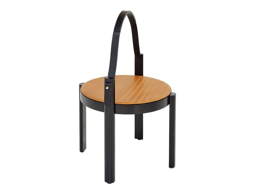 Round side table MELANGE HANDLE TABLE by Wittmann