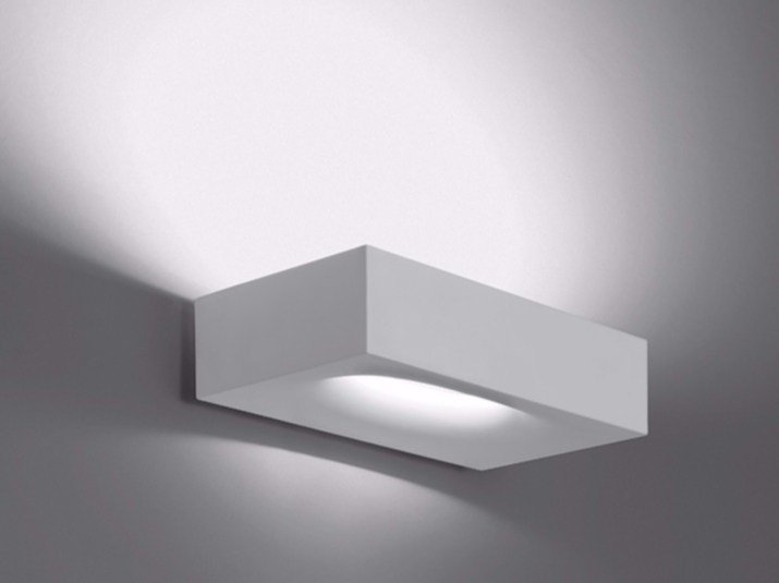 Applique a luce indiretta in alluminio con dimmer melete by