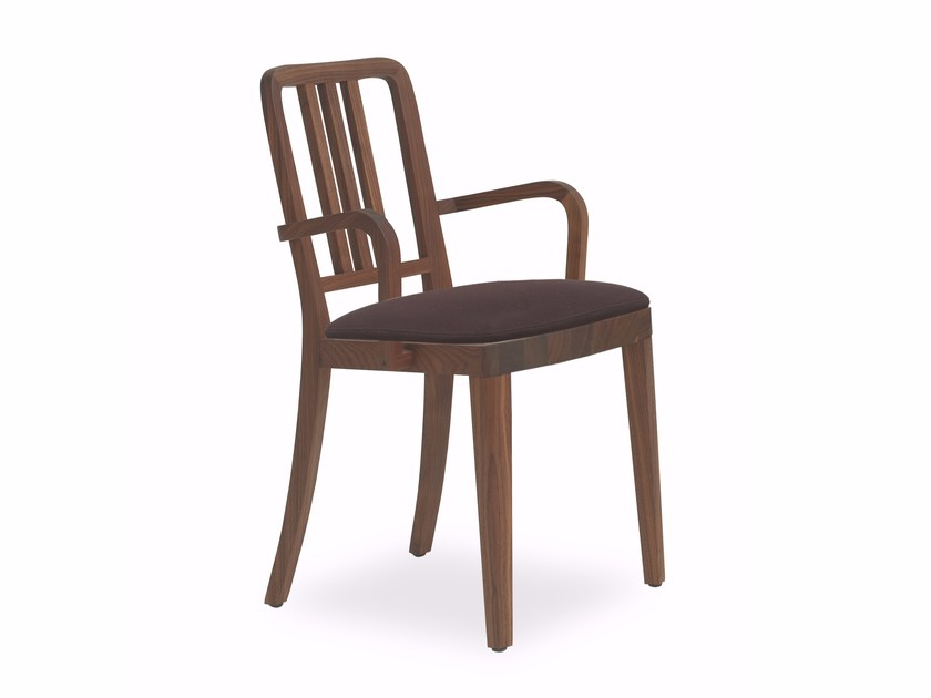 Solid wood chair with armrests MELISSA | Chair with armrests by Riva 1920