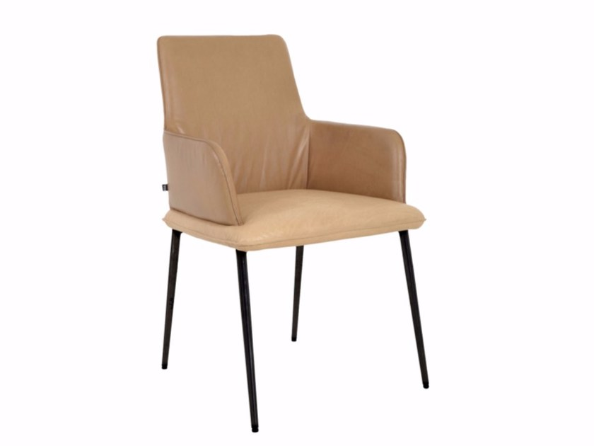 Upholstered fabric chair with armrests MELLOW | Chair by KFF