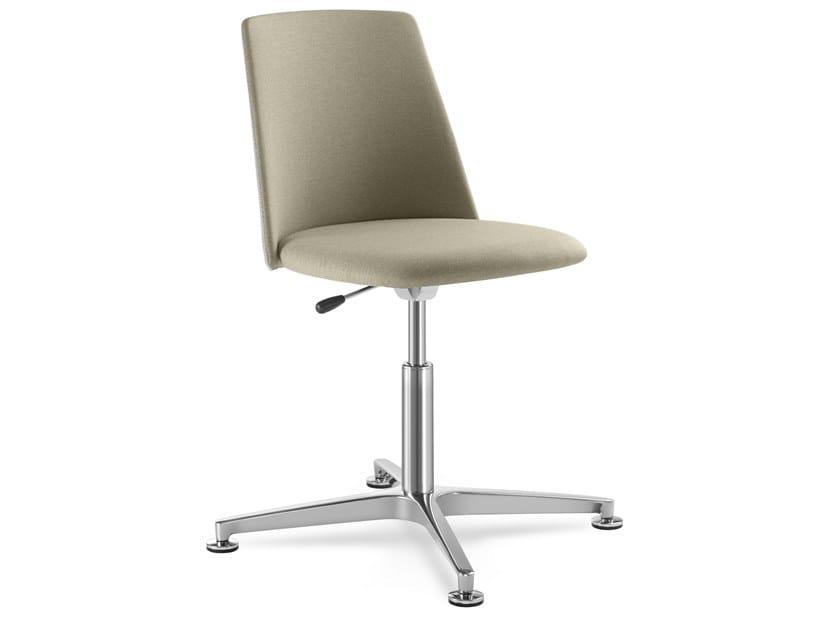 Sedia ufficio ad altezza regolabile in tessuto a 4 razze MELODY CHAIR 361-F60 by LD Seating
