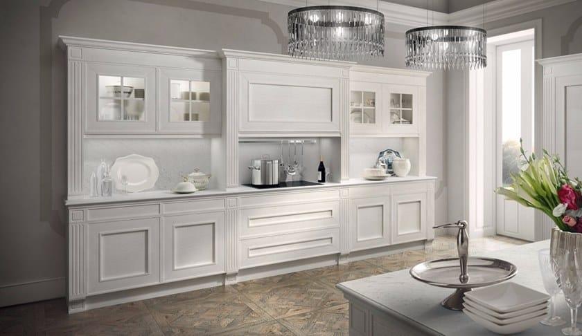 Cucina componibile in legno impiallacciato MELOGRANO CLASSIC CK3 ...