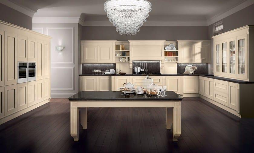 Cucina componibile in legno impiallacciato MELOGRANO CLASSIC By ...