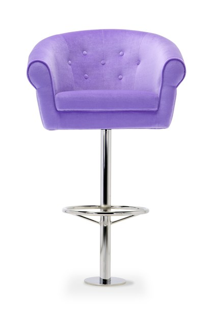 Contemporary style high upholstered stool MELT STOOL | Stool by Domingo Salotti