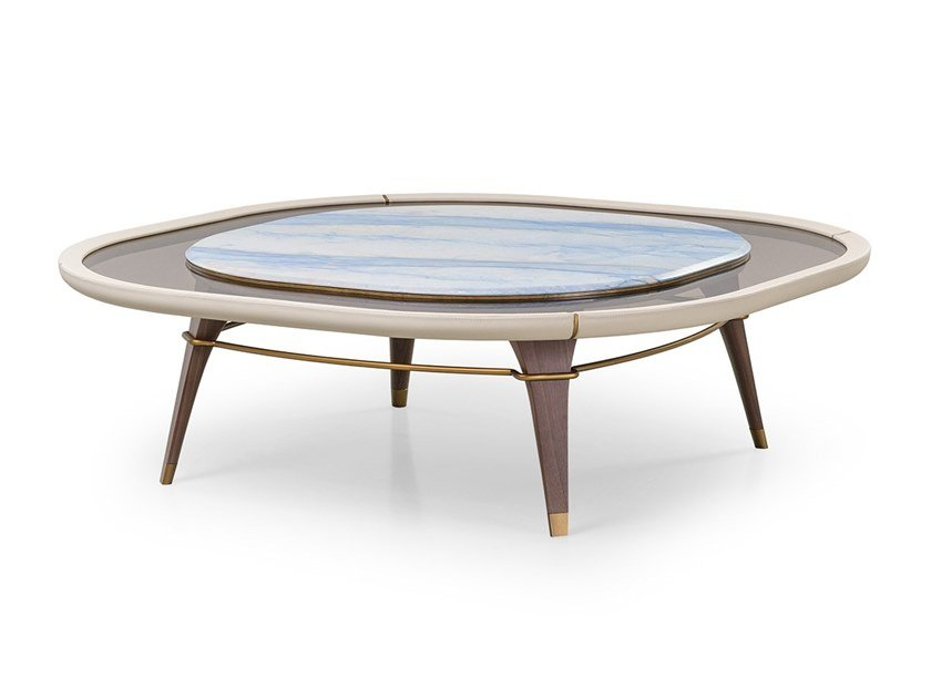 Square coffee table MELTING LIGHT | Coffee table by Turri