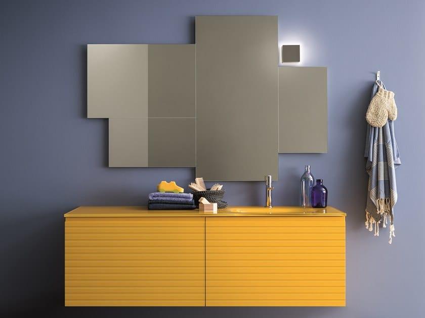 Mobile lavabo laccato con cassetti MEMENTO COMP. 5 by Birex