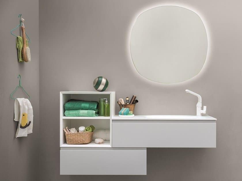 Mobile lavabo laccato sospeso MEMENTO COMP. 4 by Birex