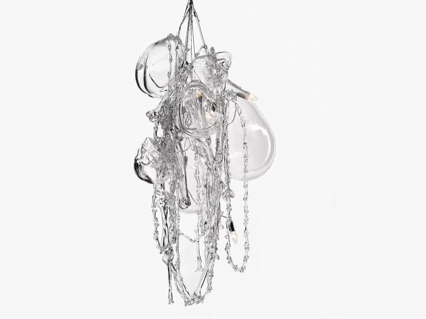 Blown glass chandelier MEMENTO MORI by Lasvit