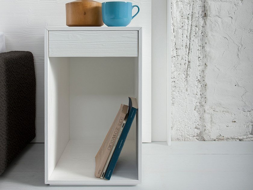 Rectangular bedside table with drawers MEMO by Capo d'Opera