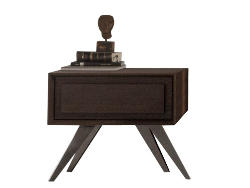 Oak bedside table with drawers MEMORIES | Bedside table by Presotto