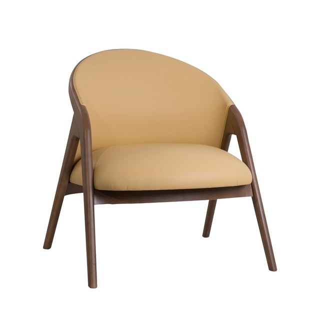 Leather armchair with armrests MEMORY by Perrouin