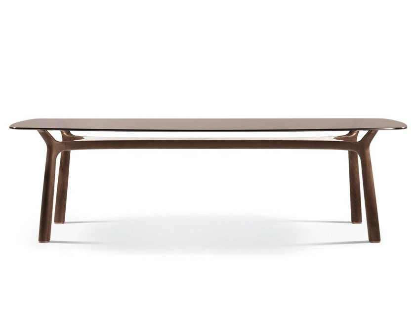 Rectangular glass living room table MEMOS | Rectangular table by GIORGETTI