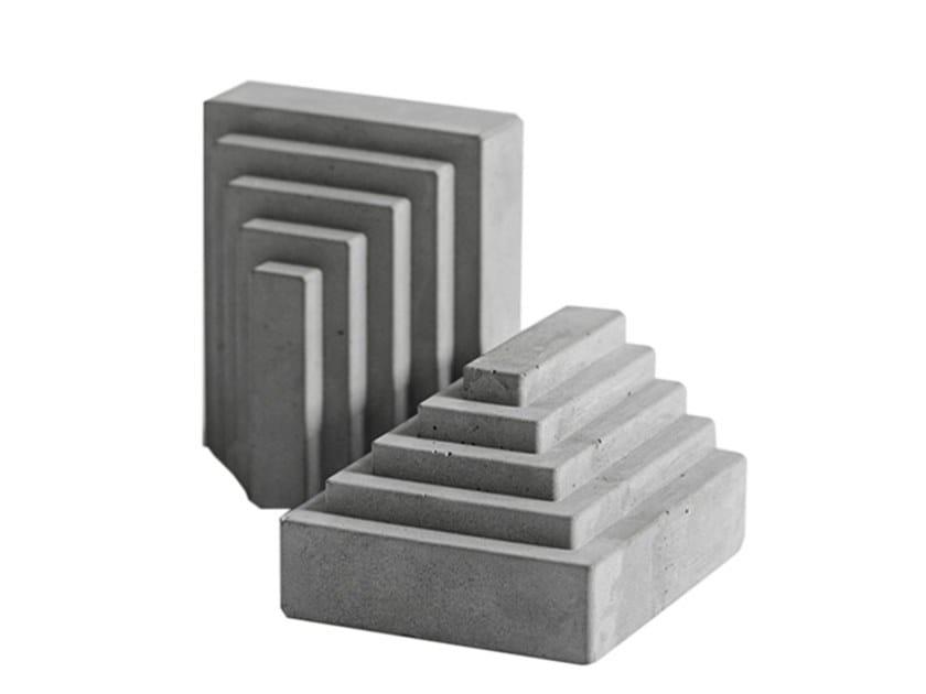 Fermalibri in calcestruzzo MEN by Bentu Design