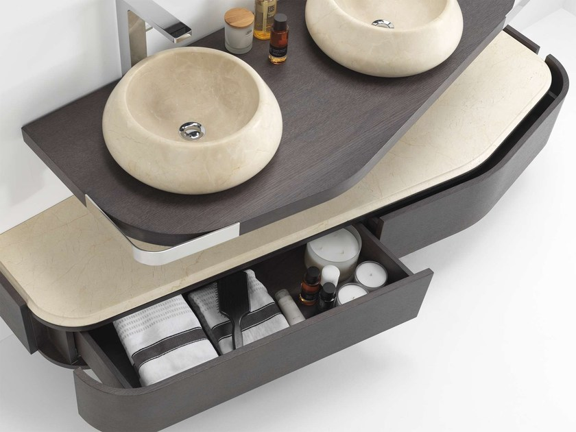 Wall-mounted wooden vanity unit with drawers MEN{H}IR L   Vanity unit with drawers by L'antic Colonial