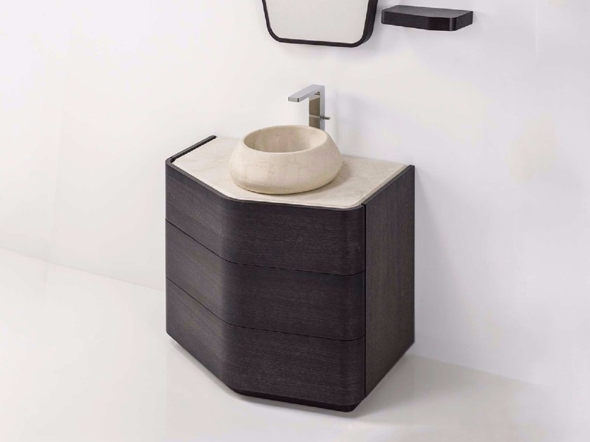 Wooden vanity unit with drawers MEN{H}IR S 3C by L'antic Colonial