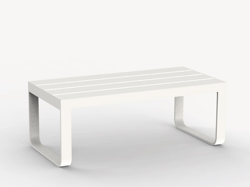 Rectangular aluminium garden side table MENSA by Ciela Mare
