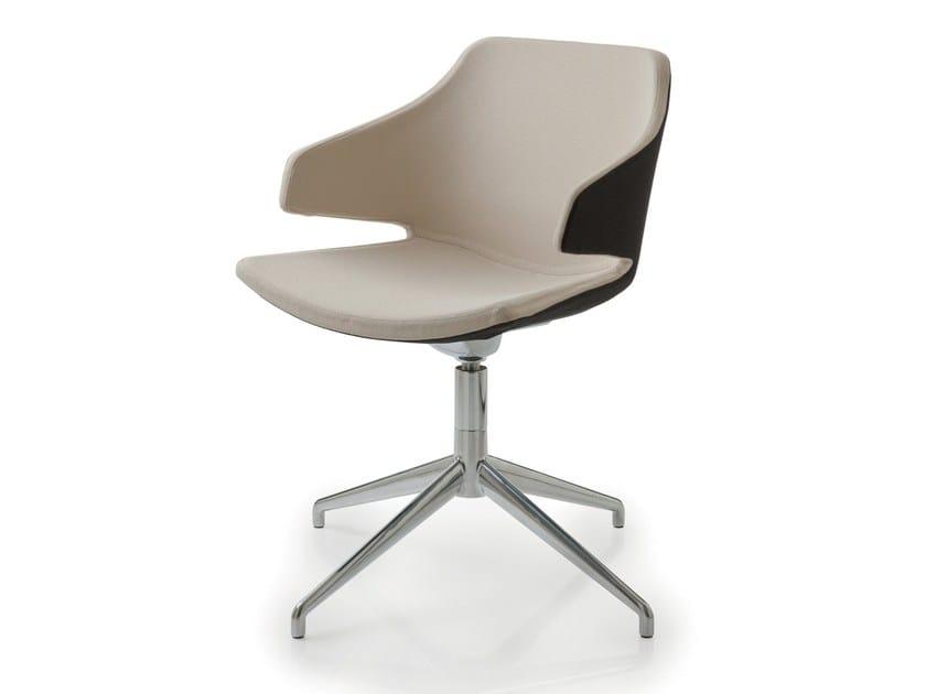 Sedia girevole su trespolo MERAVIGLIA | Sedia in tessuto by Luxy