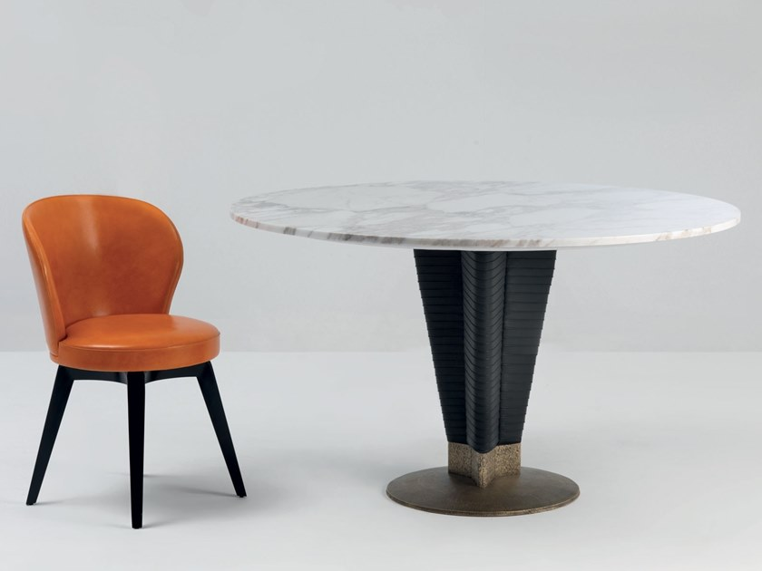 Round marble table MERCEDES LUX | Table by Mascheroni