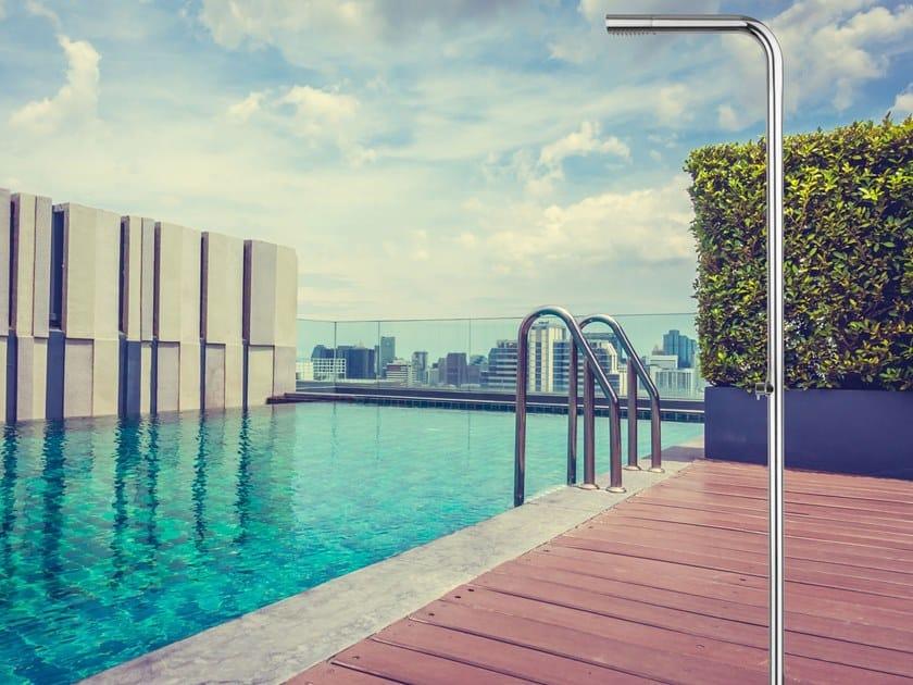 Colonna doccia / doccia esterna in acciaio inox MERCURIO by Ama Luxury Shower