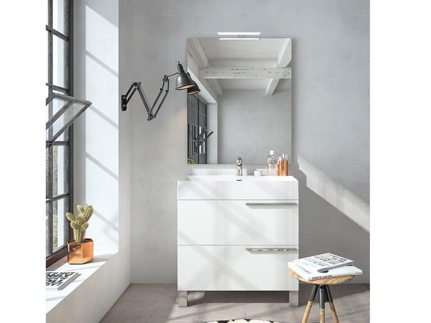 Floor-standing vanity unit with mirror MERCURY 02 by BMT