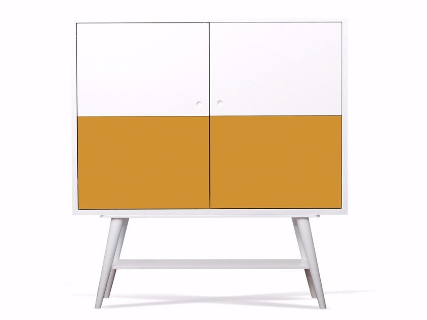 Lacquered wooden sideboard with doors MERCURY by AZEA