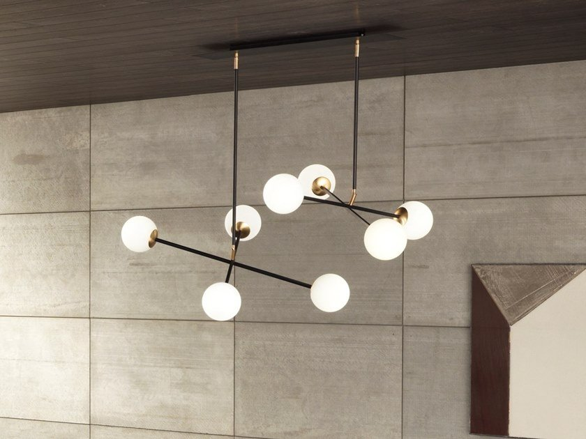 Painted metal pendant lamp MERIDIAN S4-S8 by RIFLESSI