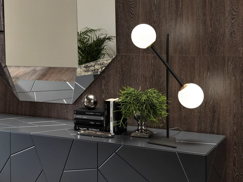 Direct light adjustable painted metal table lamp MERIDIAN T BIG by RIFLESSI